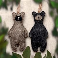 RF587 Felt Bear Ornament