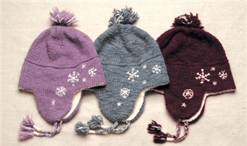 DISCONTINUED: RH344 Embroidered Snowflake Hat