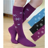 BLAST FROM THE PAST: RK396 Scattered Snowflake Knee Sock