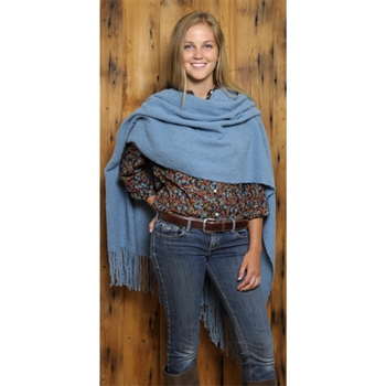 SHOW SPECIAL: RR195 Alta Boucle' Handwoven Shawl - Brown Only