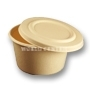 World Centric Compostable LID - 12/16 oz Fiber Barrel Bowls 500/Case