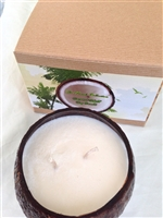"Coconut Shelled Soy Candle in ""Coconut"""
