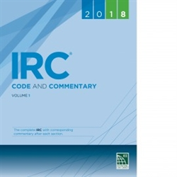 2018 IRC Code and Commentary Vol 1
