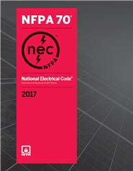 NFPA 70: National Electrical Code (NEC) Softcover,  2017 Edition