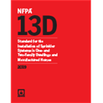 NFPA 13D: Standard for the Installation of Sprinkler Systems in One- and Two-Family Dwellings and Manufactured Homes, 2019 Edition