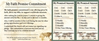 Custom Faith Promise Commitment Card - 150 count