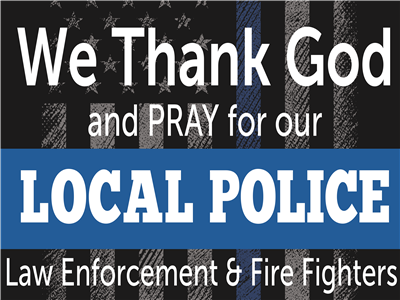 Support Local Police Yard Sign