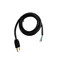 Molded Pigtail Cord | 15 Amp 120 volt | 3W, 2P, 6 Ft. Cord