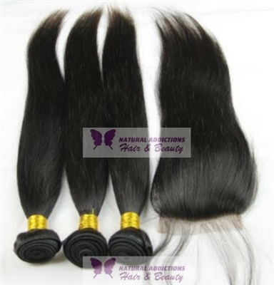 Brazilian Curly Hair Bundles and Lace Closure