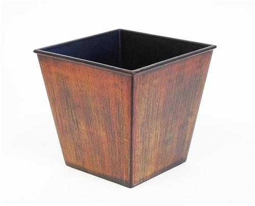 Short rustic centerpiece container rust