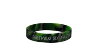 Driven by Faith & Powered By God Bracelet - Youth Green/Black Camo