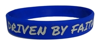 Driven by Faith & Powered By God Bracelet - Youth Royal Blue