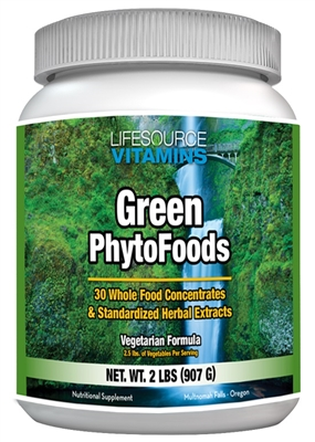 Green Phyto Foods - 2 lbs - Proprietary Formula - 96 Day Supply - Organic Whole Food