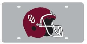 OU Mirrored Helmet License Plate by Stockdale