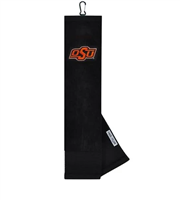 Oklahoma State Face/Club Embroidered Towel
