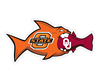 Oklahoma State Rival Fish OU Auto Magnet