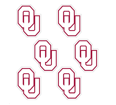 Oklahoma OU Vinyl Decal White