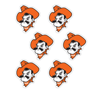 Oklahoma State Pistol Pete Face Vinyl Decal