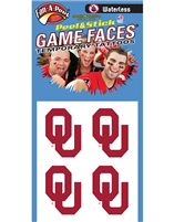 University of Oklahoma Peel and Stick Temp Tattoos