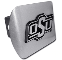 Oklahoma State Chrome Hitch Cover