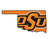 Oklahoma State OSU State Shape Vinyl Decal