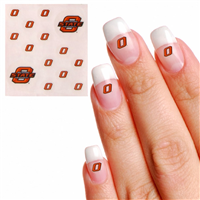 Oklahoma State Cowboys Waterless Fingernail and Face Tattoo