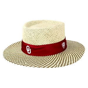 Oklahoma Sooners Straw Sand Trap Hat