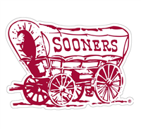 "Oklahoma Sooners Wagon 6"" Vinyl Decal"