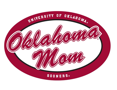 Oklahoma Sooner Vinyl Decal Oklahoma Mom Round