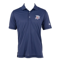 Adidas Men's Puremotion Solid Polo Oklahoma City Thunder Shirt Solid Navy