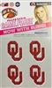 Oklahoma Sooners Bling Tatoos
