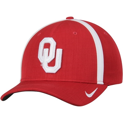 Men's Nike Crimson Oklahoma Sooners 2017 Sideline AeroBill Coaches Performance Adjustable Hat