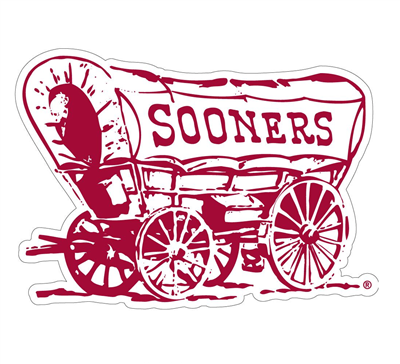 "Oklahoma Sooner Wagon 12"" Vinyl Decal"