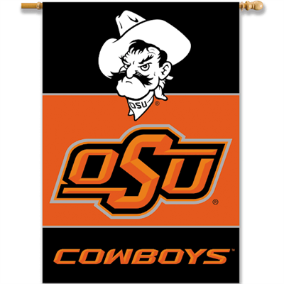 "Oklahoma State 28"" x 40"" 2-Sided Banner"