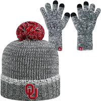 Oklahoma Sooners Beanie and Glove Set