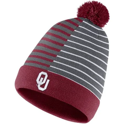 Oklahoma Sooner Nike Stripped Reversible Beanie