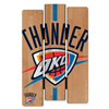 Oklahoma City Thunder Fence Wood Sign