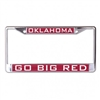University of Oklahoma Inlaid Metallic License Plate Frame