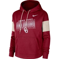 Oklahoma Sooners Ladies Nike Fleece Hoody Sweatshirt - Crimson