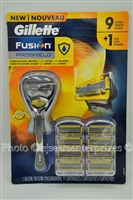 Gillette Fusion ProShield Razor FlexBall Handle 9 razor refill cartridges