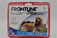 Frontline Plus Dogs 23-44 lbs 3 Doses