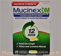 Mucinex DM Maximum Strength 12-Hour Expectorant and Cough Suppressant Tablets, 14 Count