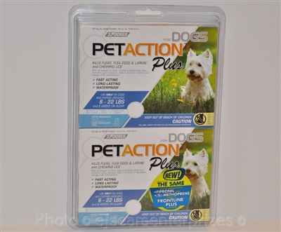 PetAction Plus for Dogs, 6 Doses Small Dogs 6-22 Lbs.