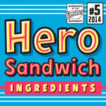 Hero Sandwich Ingredients font