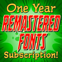 One Year REMASTERED Font Subscription
