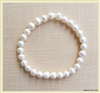 ZPB-02 - White Pearl 9mm Bracelet