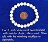 Astrological white coral bracelet