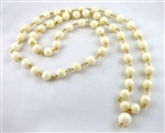 Astrological white coral mala