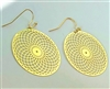 Torus Vortex 18K Gold Plated Earrings