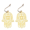 Hamsa 18K Gold Plated Earrings